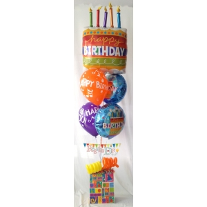 CONFETI, MINI PASTEL Y GLOBOS, HAPPY BIRTHDAY !!